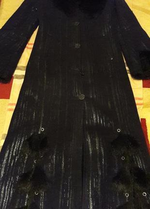 Дубленка длинная с капюшоном черная дубленка женская дубленка3 фото