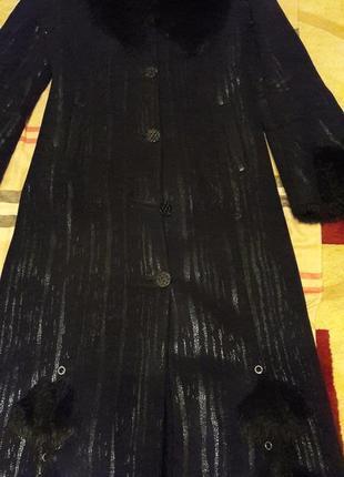 Дубленка длинная с капюшоном черная дубленка женская дубленка4 фото