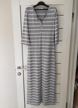 Длинное платье в полоску, новое, l