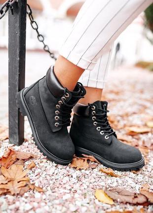 """Женские зимние ботинки timberland """"black"""" термо"""