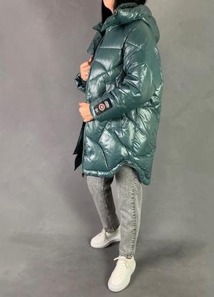 Пуховик объёмный  оверсайз зимняя куртка