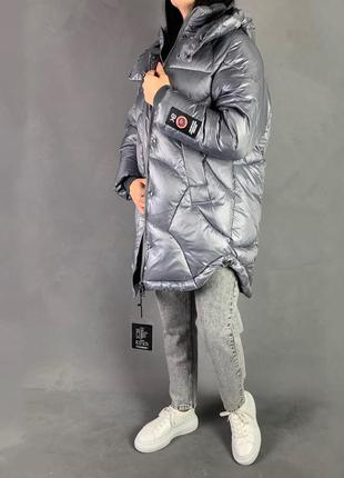 Пуховик объёмный  оверсайз зимняя куртка бойфренд
