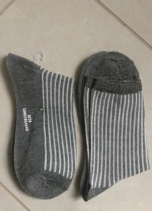 Носочки стильные модные дорогой бренд becksondergaard размер 39-40