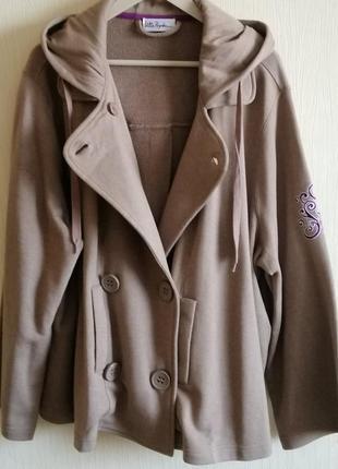 Стильное коттоновое пальто кофта толстовка ulla popken