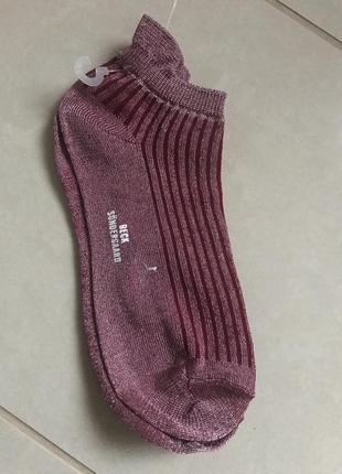 Носочки короткие стильный модный дорогой бренд becksondergaard размер 39/40