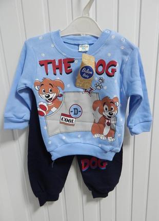 Детский костюм  с собачками турция bilkon
