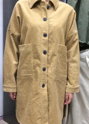 Вельветовая рубашка, пальто oversized, zara trafaluc