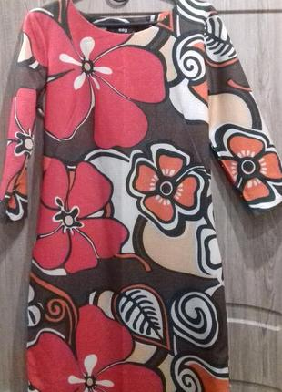 Платье в крупные цветы say