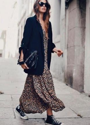 Платье рубашка с леопардовым принтом размер s-m