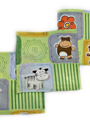 Детские носовые платочки. набор из 3 штук. чистый хлопок.