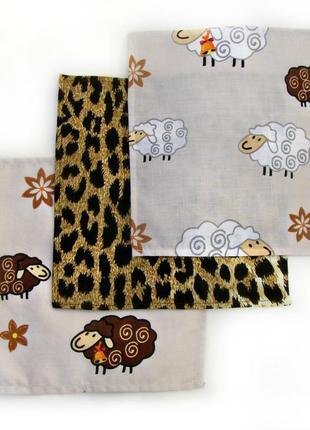 Детские носовые платки. набор из 3 штук. чистый хлопок. быстрая отправка