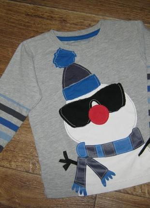 Реглан с снеговиком от bluezoo, 2-3года     68грн