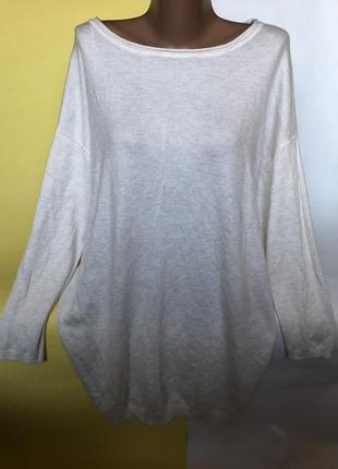 Удлинённый свитер кофта с шерстью