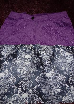 Юбка в рок сьиле юбка с черепами юбка с блестками