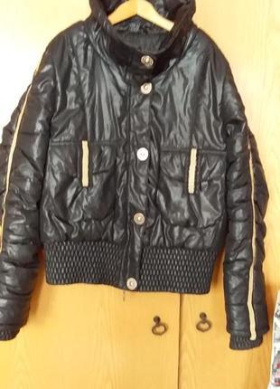 Зимняя молодежная курточка со стразами 46-48 размера