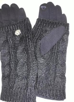 Перчатки трикотаж на флисе