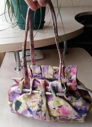 Летняя кожанная сумочка италия