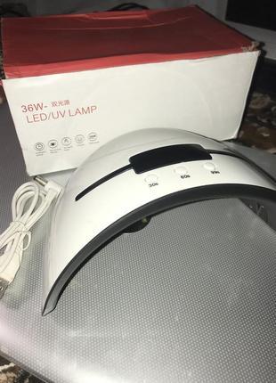 Led лампа 36w для сушки гель-лака, наращивания ногтей. с дисплеем