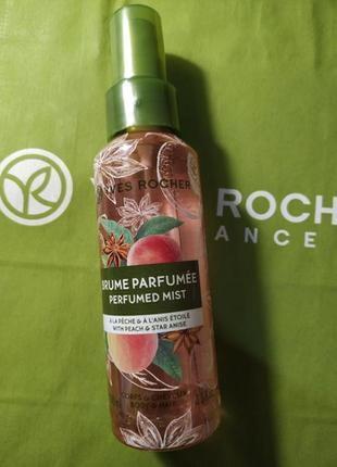 Парфюмированный спрей для волос и тела персик- анис
