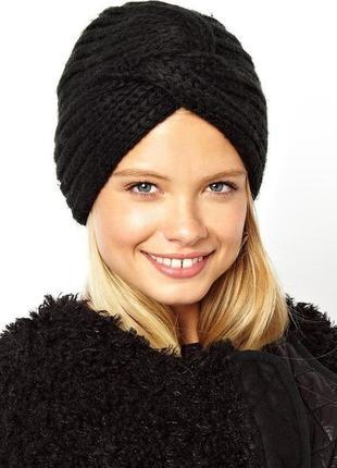 Модная вязаная шапка чалма тюрбан