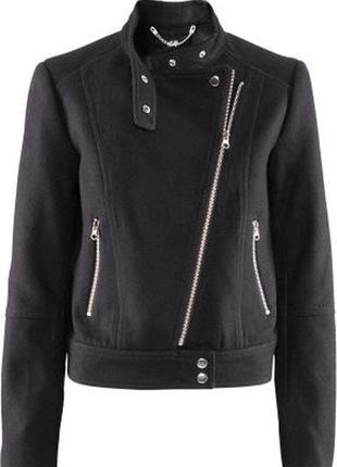 Куртка косуха чёрная из шерсти