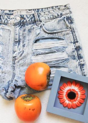 Рваные джинсовые шорты от denim co, размер xl