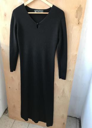 Улетное ,длинное шерстяное платье , длинный рукав s-m