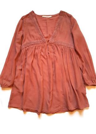 Красивая туника, длинная блуза zara trafaluc, s