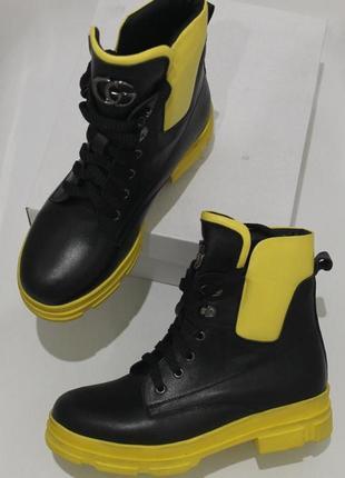 Exclusive style ботинки  кожа натуральная ,зима 2020, с 36-41р