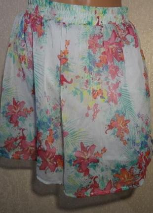 Яркая шифоновая короткая юбка colours of the world размер s