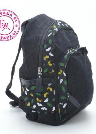 Джинсовый рюкзак little pigeon черный