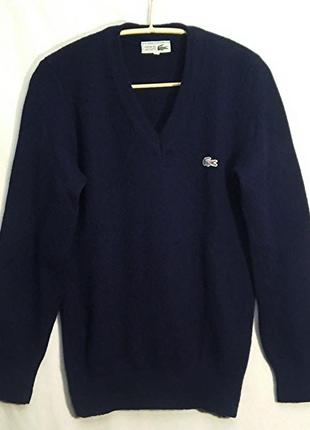 Lacoste, свитер джемпер синий шерсть, made in france