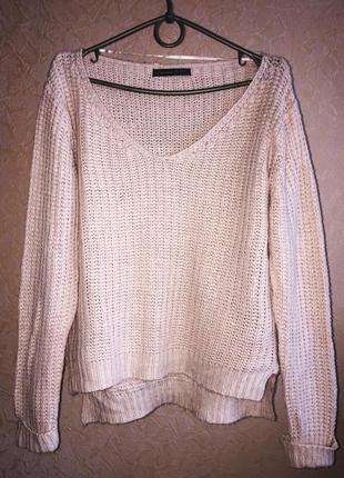 Нежно-розовый свитер atmosphere