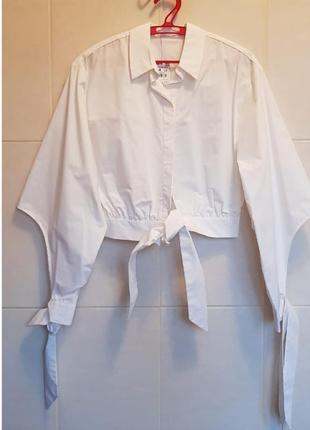 Рубашка стильная белая