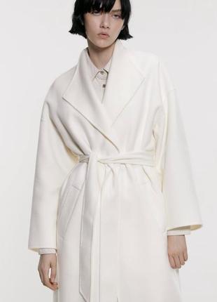Пальто под пояс zara. новое