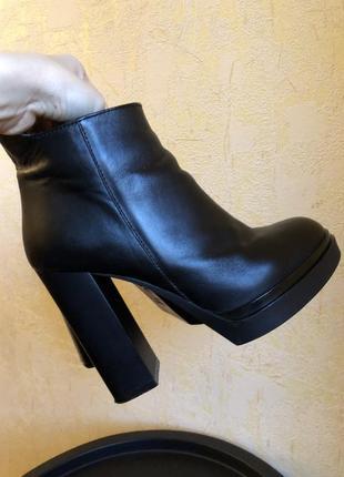 Ботинки ботильоны натуральная кожа на высоком каблуке
