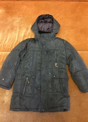 Тёплая зимняя куртка, прикрывает попу