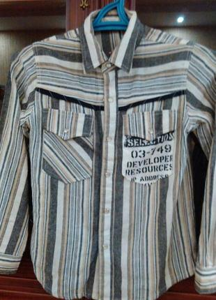 Рубашка для мальчика льняная