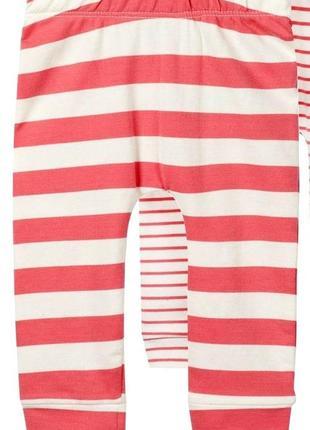 Хлопковые штанишки на новорожденную девочку! h&m