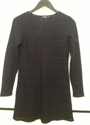Платье-туника черное короткое kookai