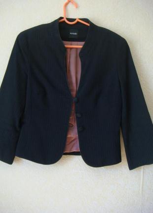 Приталенный атласный короткий жакет с рукавом 2/3 #обновление гардероба