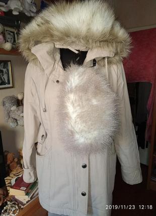 Шикарное пальто (весна-осень)в комплекте с шапочкой,56-58 укр.размер