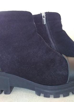 Замшевые ботинки, размер 39