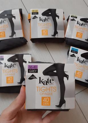 Итальянские матовые колготки kate италия, колготы темно-серые плотные, р.евро s, m, l, xl