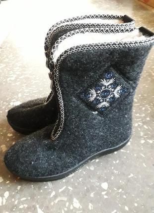 37-41  р. зимние теплющие ботинки сапоги бурки
