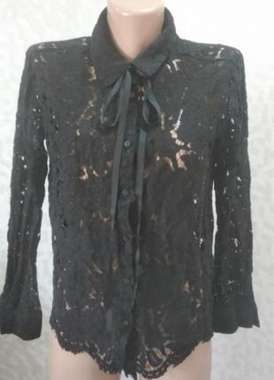 Блуза ажурная mango