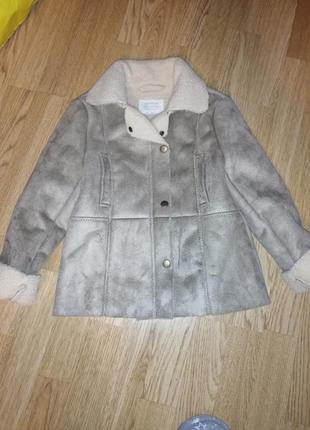 Дубленка на девочку куртка