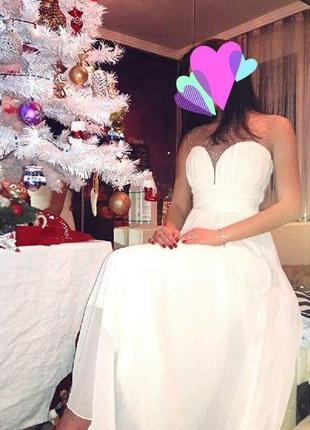 Вечернее,выпускное,свадебное белое платье
