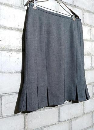 Меланжевая юбка миди в составе шерсть 44 %