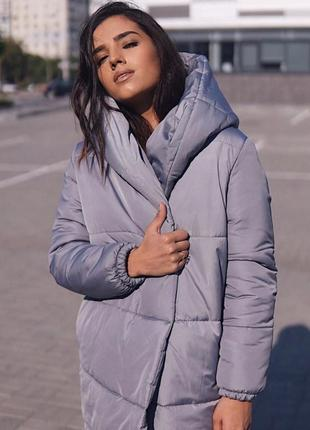 Новинка! теплая зимняя куртка зефирка люкс +  подарок*